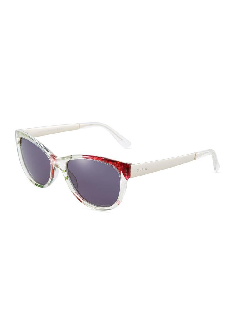 f0054191f Gucci Square Floral Plastic Sunglasses | Sunglasses