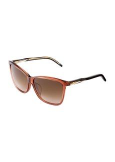 Gucci Square-Frame Plastic Sunglasses
