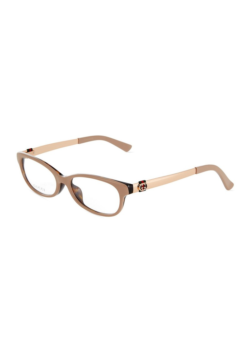 386d7b8cc7f Gucci Square Havana Acetate Optical Glasses