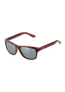 Gucci Square Havana Plastic Sunglasses w/ Web Arms