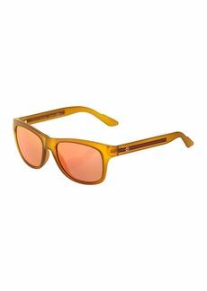 Gucci Square Plastic Sunglasses w/ Web Arms