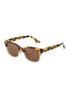 Gucci Square Tortoiseshell Plastic Sunglasses