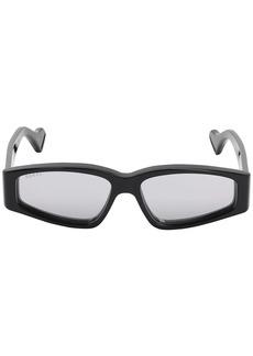 Gucci Squared Sunglasses W/ Mirror Lenses