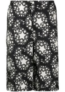 Gucci star print knee-length shorts