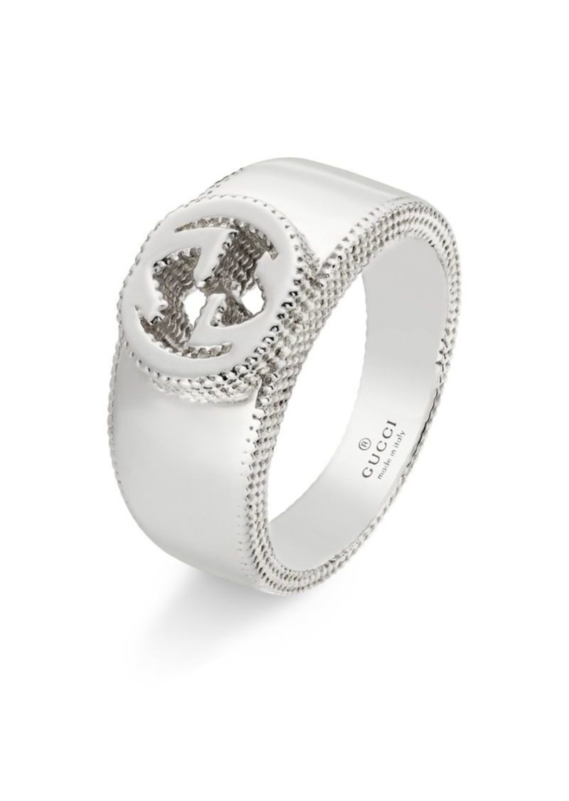 d12e33946 Gucci Sterling Silver Interlocking G Band Ring | Misc Accessories