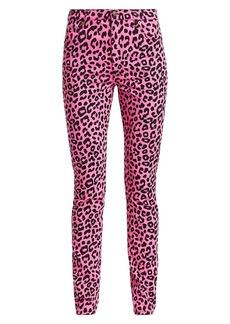 Gucci Straight-Leg Animal Print Jeans