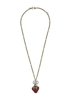 Gucci strawberry pendant necklace
