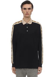 Gucci Stretch Cotton Piquet L/s Polo Shirt
