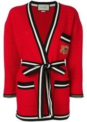 Gucci striped hem cardigan-coat