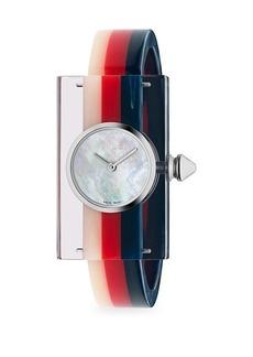 Gucci Striped Plexiglas Watch