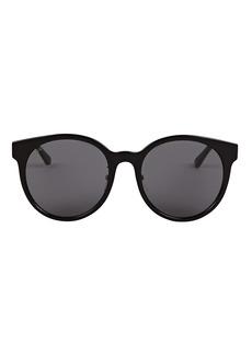 Gucci Striped Round Sunglasses