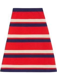 Gucci Striped wool skirt