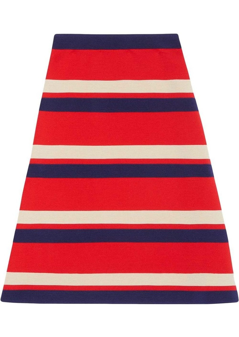 Gucci Striped wool skirt