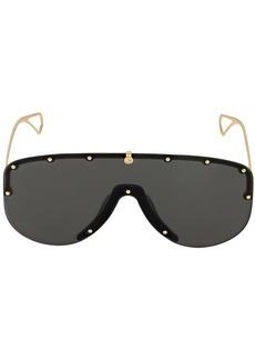 Gucci Studded Metal Mask Sunglasses