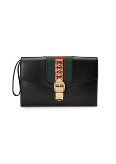 Gucci Sylvie Leather Wristlet