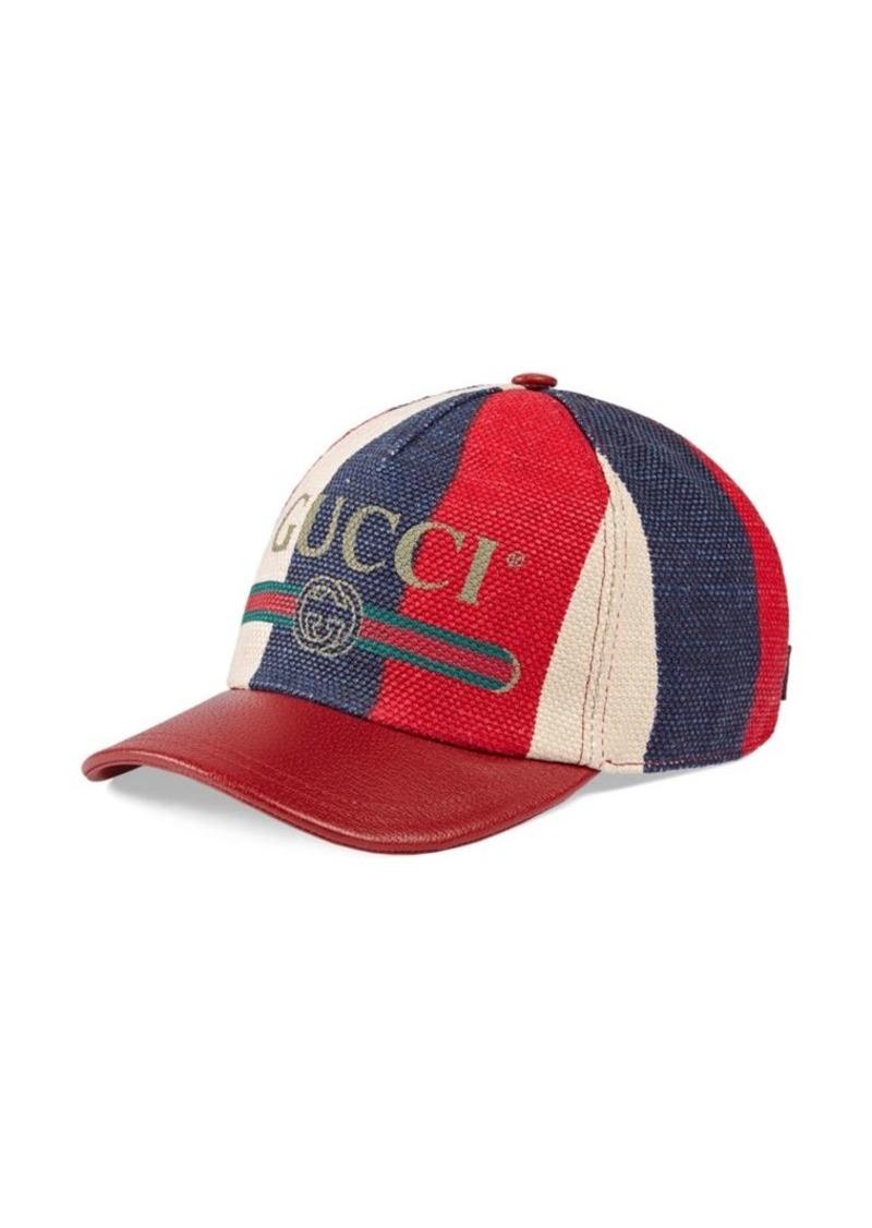 6cb640590f637 Gucci Sylvie Logo Print Baseball Hat