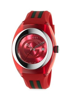 Gucci Sync Stainless Steel & Rubber-Strap Watch
