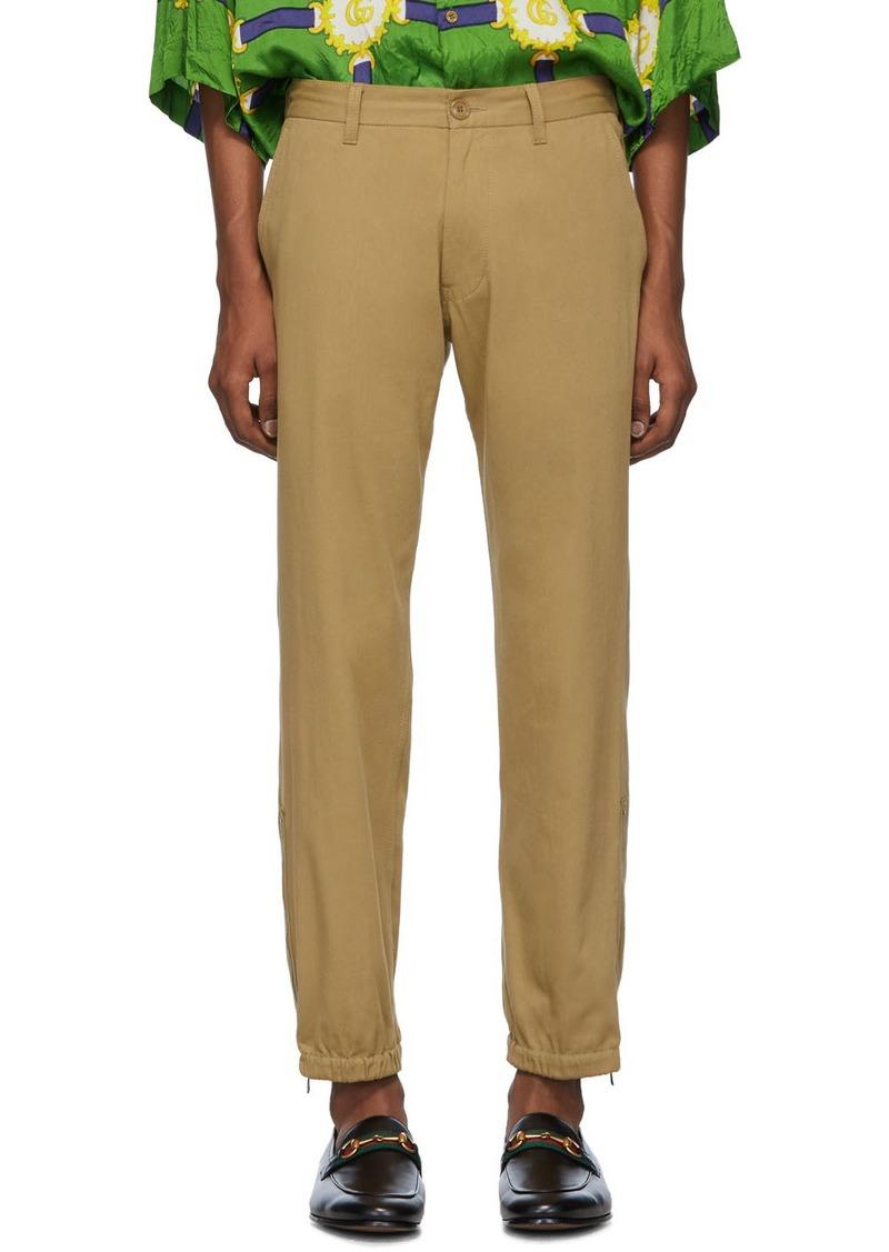 Tan 'Gucci Band' Trousers