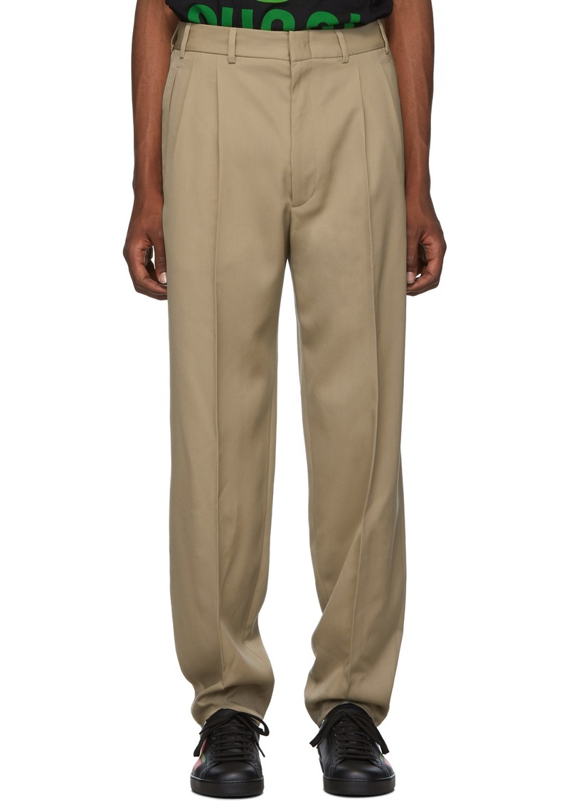 Gucci Tan Wool Trousers