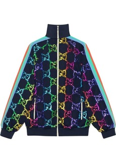 Gucci Technical jersey jacket with GG sequins