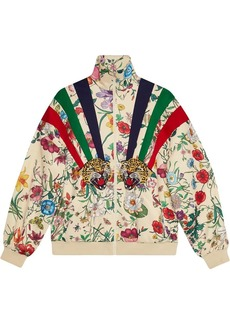 Gucci Technical jersey jacket with patches