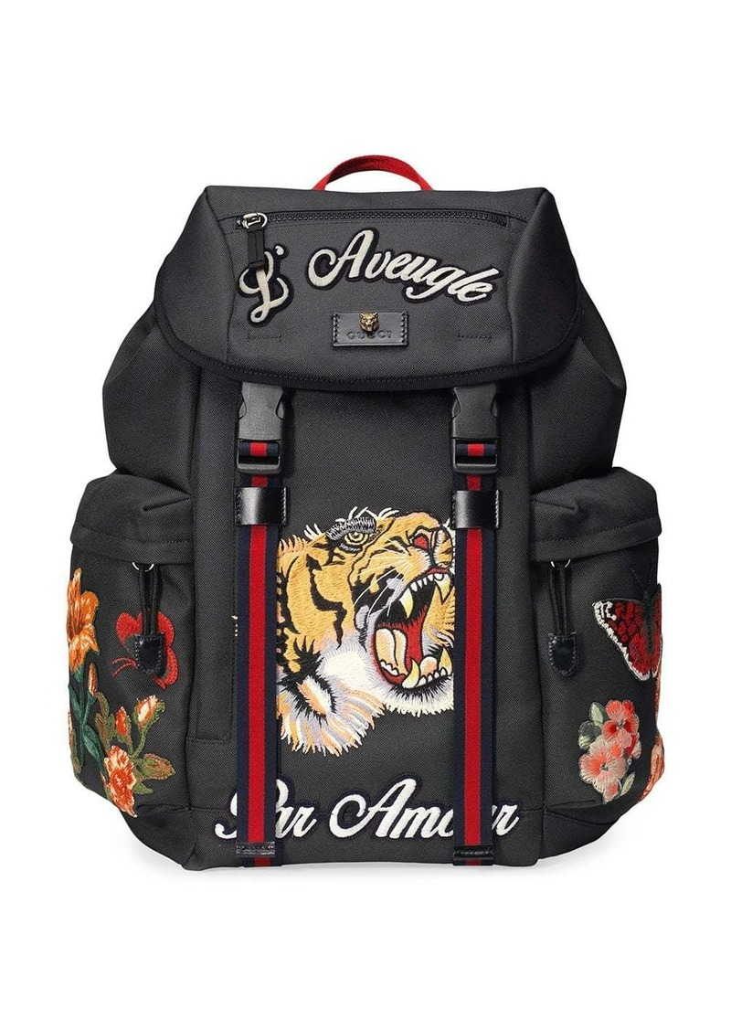 Gucci Techpack with embroidery