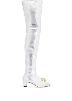 Gucci thigh-high lightning bolt boots