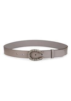 Gucci Tiger Head Crystal & Leather Belt