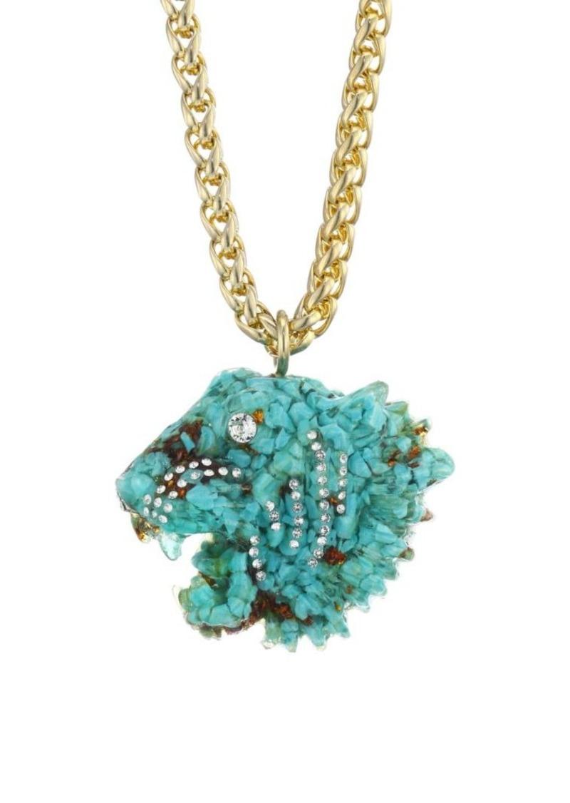 Gucci Tiger Head Motif Pendant Necklace