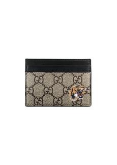 Gucci Tiger print GG Supreme card case