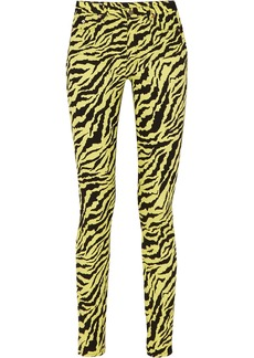 Gucci Neon Tiger-print High-rise Skinny Jeans
