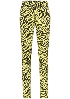 Gucci Tiger stripe cotton blend skinny jeans