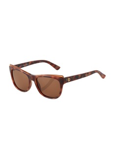 Gucci Tortoiseshell Cat-Eye Plastic Sunglasses