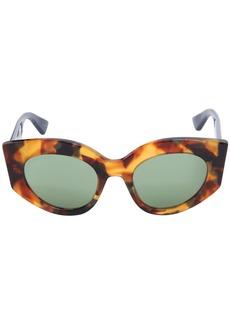 Gucci Tortoiseshell Cat-eye Web Sunglasses