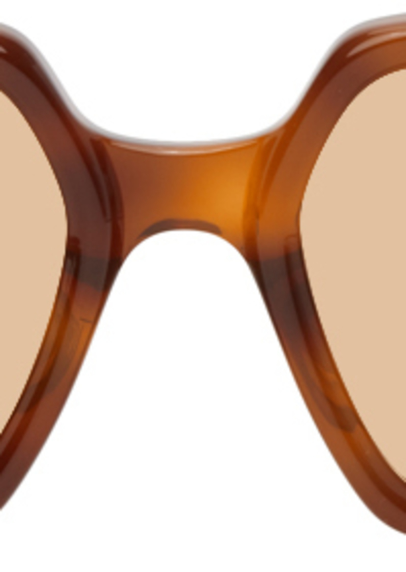 Gucci Tortoiseshell Rectangular Sunglasses