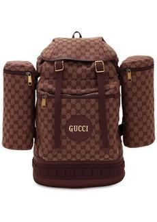 Gucci Trekking Gg Logo Canvas Backpack