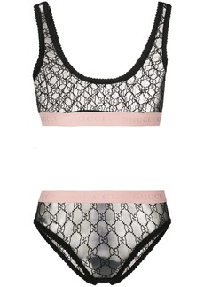 Gucci tulle jacquard bra set