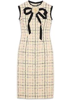 Gucci Tweed sheath dress with bow