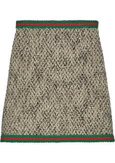 Gucci tweed Web stripe skirt