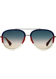 Gucci two-tone aviator sunglasses