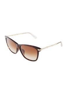 Gucci Two-Tone Cat-Eye Combo Sunglasses
