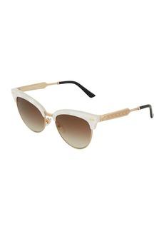 Gucci Two-Tone Metal Sunglasses