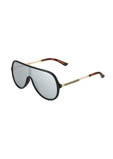 Gucci Unisex Injected Metal Aviator Shield Sunglasses