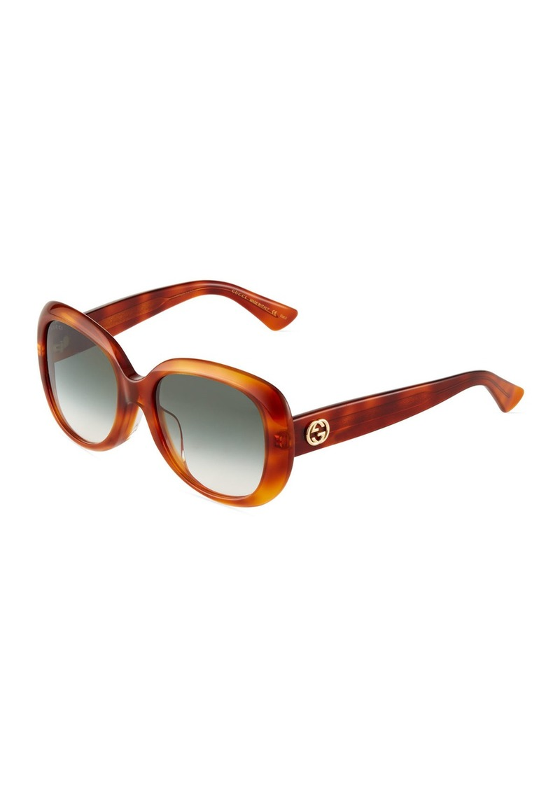 e7ab29259839 Gucci Universal-Fit Acetate Butterfly Sunglasses