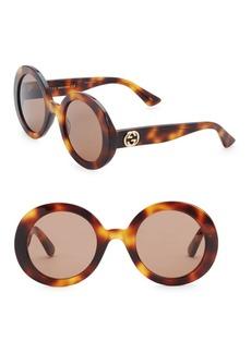 Gucci Urban 52MM Round Sunglasses