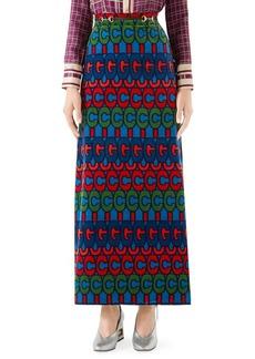 Gucci Velvet GG Maxi Skirt