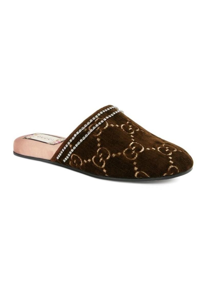 494ff9c17 Gucci GG Velvet Slippers   Shoes