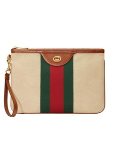 Gucci Vintage canvas pouch