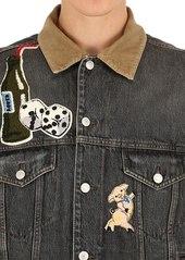 5ac808f7f Gucci Vintage Logo Washed Denim Jacket | Outerwear
