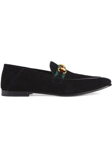 Gucci web detail horsebit loafers